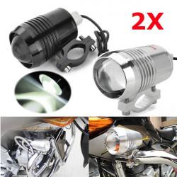 2stk Motorrad Cree U2 LED Scheinwerfer Hohe Abblendlicht