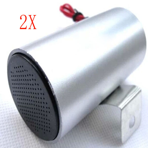 2X 12V DC Motorcycle Brake Horn Aircraft Sound Speakers 2X Motorcycle