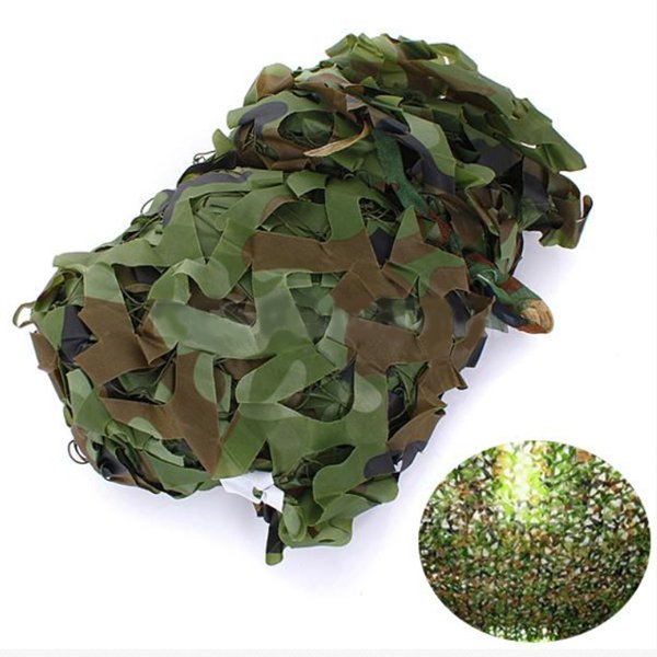 2X1.5m Woodland Camouflage Camo Net for Camping Militær Photography Motorcykel / MC