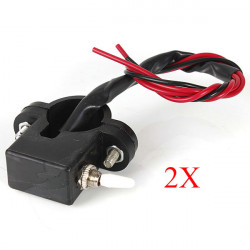 2X Motorcykel Dual Flash Varning Switch Med Blinkers