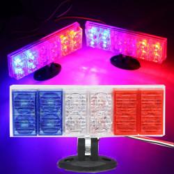 2 X Motorcykel Elbiler Advarsel Red & Blue & White LED Blinkende Lys