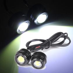 2pcs 12V 3W Motorcycle LED Day Light Daytime Running Fog Lamp