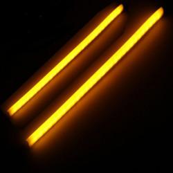 2stk Amber Motorcykel Auto Fleksibel Guide LED Lysbånd Blinklys