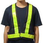 2pcs Black&Yellow Reflective Vest High Visibility Warning Safety Gear Motorcycle