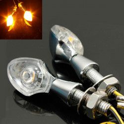 2x Motorrad Motorrad LED Signale Indicator Light E Prüfzeichen 12V Schalten