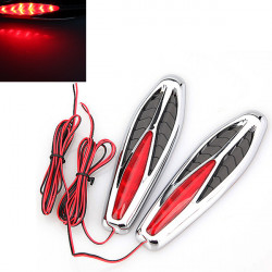 2x Motorcycle Car Side Marker Turn Light LED Flash Steering Lamp Red
