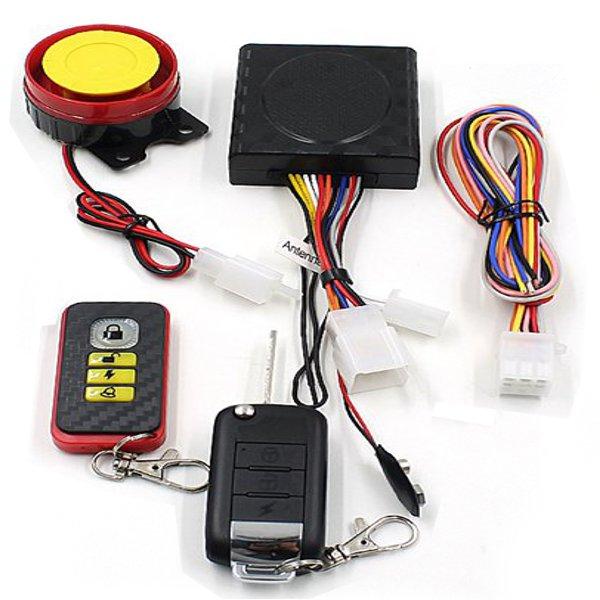 315MHz Motorcykel Wireless Intelligent Auto-lås Secuity Alarm Siren Motorcykel