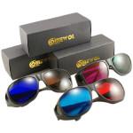 3D Brille Set 3 Paare Rot, Grün, Rot, Blau, Braun Blau Objektiv Motorrad