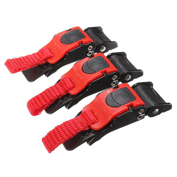 3 x Plastic Motorcycle Clip Chin Strap Quick Release Buckle Autocycle Motorcycle