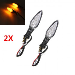 4Pcs X Motorcycle LED Carbon Turn Light Indicators Lamp