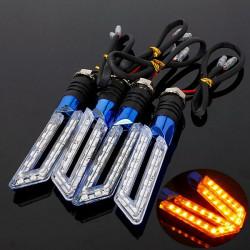 4stk Blau Universal Motorrad Blinker Licht Lampe