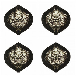 4pcs Cool Style Skeleton Head Decoration Motorcycle Sticker