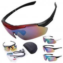 5 Lens Polarized Motorcycle Sports Sunglasses Goggles