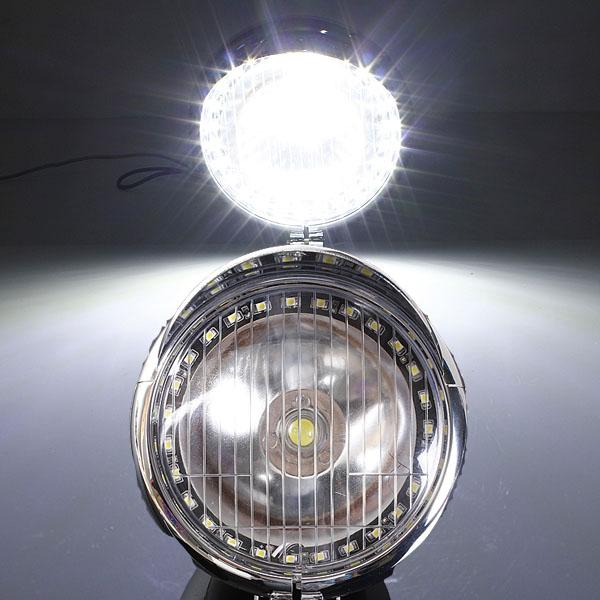 5W Motorcykel Angel Eye Fog Strålkastare Lampa för Harley Motorcykel