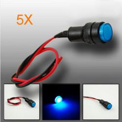 5x10mm Universal LED Anzeige Schalttafel Warnlicht Lampe