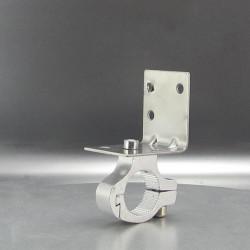 60MM 360 Degrees Aluminum Motorcycle LED Headlight Lamp Bracket Clip