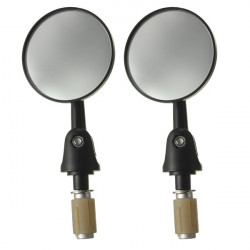 7/8Inch Motorcycle Handle Bar End Side Rear View Round Mirrors