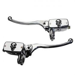 7/8 Inch Motorcycle Handlebar Skull Brake Master Cylinder