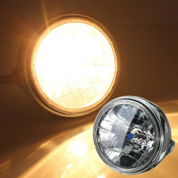 7inch 12V 35W H4 Motorcycle Headlight Bulb Rear Mount Head Lamp