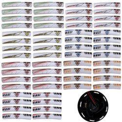 8pcs Motorcycle Scooter Wheel PU Stripe Reflective Decal Sticker