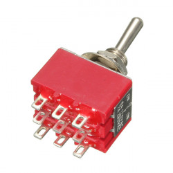9 Pins 3PDT 2A/250V 6A/125V On-Off-On 3PDT Miniature Toggle Switch