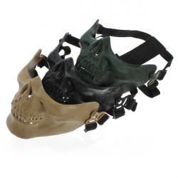 Adjustable Half Face Skeleton Skull Protect Mask for Motorcycle Ski