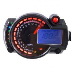 Justerbar Motorcykel Digital Hastighetsmätare LCD Digital Vägmätare