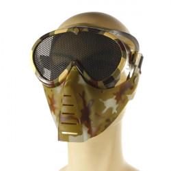 Airsoft Spel Full Ansiktsmask Ansiktsskydd Munskydd Näsa Ögon Skydd Skyddsnät Guard