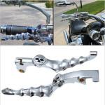 Aluminium Krom Skull Zombie Motorcykel KoblingsGreb BremseGrebs for Honda Motorcykel / MC