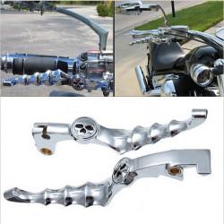 Aluminium Krom Skull Zombie Motorcykel Kopplingshandtag för Honda