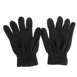 Black Winter Cycling Mitten Stretchy Elastic Gloves Women Men