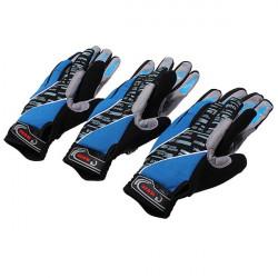 Blå Cykel Cykel Gel Silikon Full Lång Finger Warm Handskar