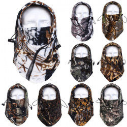 Camo Thermal Ski Neck Hoods Full Face Mask Cover Hat Cap