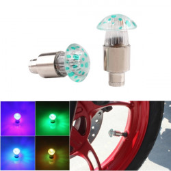 Car Motorcycle Bike Wheel Tyre Valve Cap LED Flash Light Colorful