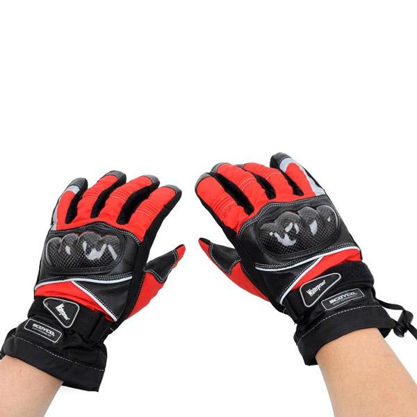 Carbon Fiber Waterproof Motorcycle Racing Gloves for Scoyco MC15B Motorcycle