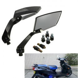 Carbon Motorcykel Aluminium Handle Styre End Side Backspeglar