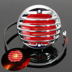 Chrome Motorcycle Tail Brake Light For Harley Bobber Chopper Rat