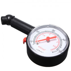 Dial Tire Air Pressure Gauge Meter for Motorcycle Car Vehicle 0-50PSI