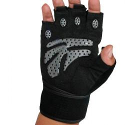 Dubbelhalk Förlängas och Breddas Handleds Fitness Handskar