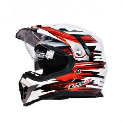 ECE Doppelobjektiv Motocross Helme Motorrad Sturzhelm für LS2