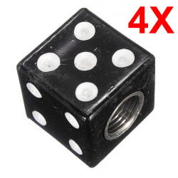 Four Dice Tyre Tire Air Valve Dust Cover Cap for Motorcycle Car Truck