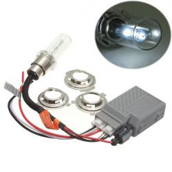 H6 35W 6000K White Motorcycle Headlight HID Xenon Bulb