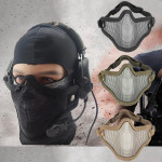 Half Face Metal Steel Net Mesh Mask for Motorcycle Tactical Hunting Motorcycle