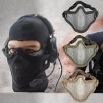 Halvdelen Face Metal Stål Net Mesh Maske til Motorcykel Taktisk Jagt Motorcykel / MC
