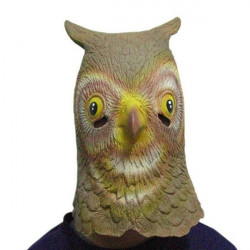 Halloween Animal Huvudbonader Simulering Latex Owl Maskerar