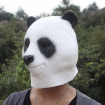 Halloween Tierkopfbedeckungen Simulation Latex Panda Maske Motorrad