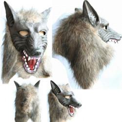Halloween Skräck Devil Danser Full Wolf Mask Eller Wolf Handskar