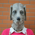 Halloween Party Props Tricky Realistic Dogs Caps Party Mask Motorcycle