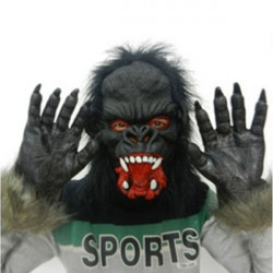 Halloween Party Props Tricky Realistic Horror Gorilla Gloves