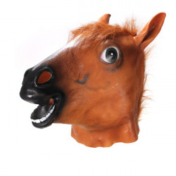Horse Hoved Mask Creepy Halloween Kostume Theater Prop Novelty Latex